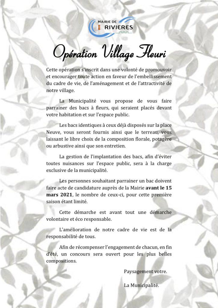 Opération Village Fleuri