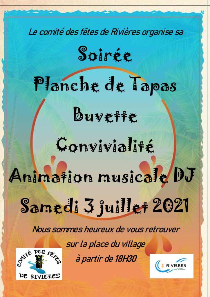 Fête du village                                                        Samedi 3 juillet 2021