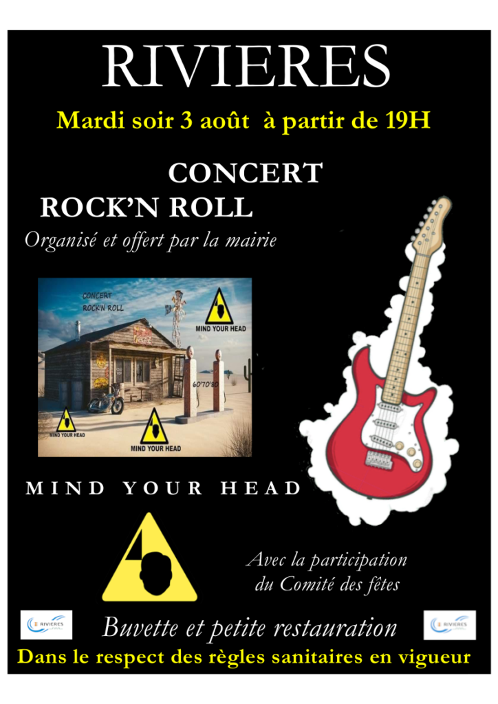 Concert ROCK'N ROLL  le mardi 03 août
