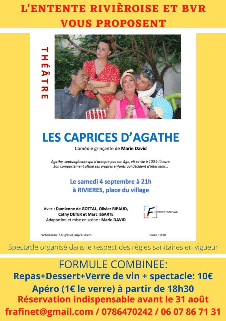 Le samedi 4 septembre.    Théâtre à Rivières